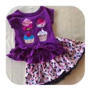 Epic Threads T-shirt & Skirt Outfit 2T